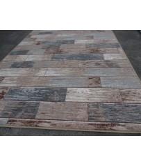 Design Holz Teppich auf Comfort Vlies Rücken