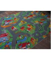 Kinder Spiel Teppich Straße Stadt