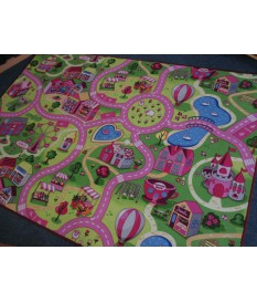 Kinder Spiel Teppich Girls Straße Stadt