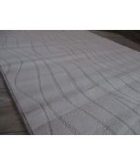 Moderner Wellen Kontur Teppich 140 x 200 cm grau beige Posten