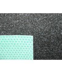 Kunstrasenteppich Comfort anthrazit 200cm (4,95 €/m²) mit Noppen
