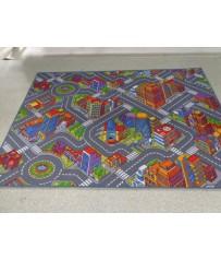 Kinder Spiel Teppich Straßenteppich Auto Big City 3D Playtime