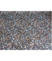 PVC (7,99€m²) CV Bodenbelag Steine Dekor Dunkel 200 cm breit
