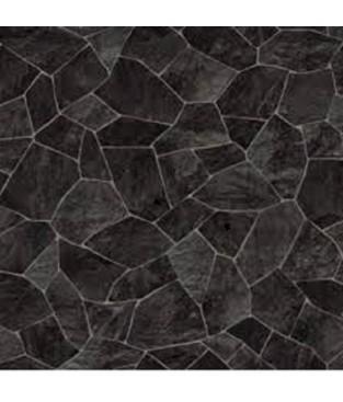 PVC CV Bodenbelag (9,90 €/m²) Bruchstein schwarz 200 cm Boden