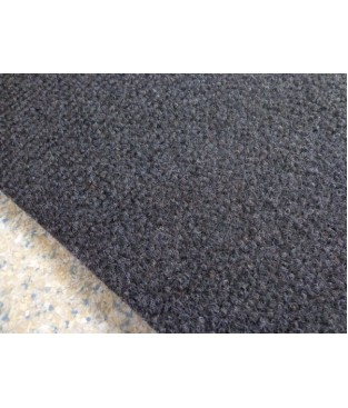 Nadelfilz (7,50€/m²) Teppich Auslegware Teppichboden anthrazit schwarz in 400 cm