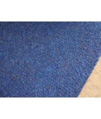Nadelfilz (7,50€/m²) Teppich Auslegware Teppichboden blau in 400 cm