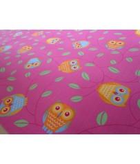 Kinder Spiel Teppich Eulen pink rosa
