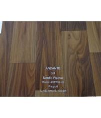 PVC CV Bodenbelag (13,50 €/m²) Joka Andante Walnuss Design 63 Holz Dekor 400 cm Boden