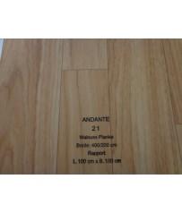 PVC CV Bodenbelag (13,50 €/m²) Joka Andante Walnuss Planke Design 21 Holz Dekor 400 cm Boden