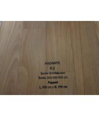 PVC CV Bodenbelag (13,50 €/m²) Joka Andante Buche Schiffsboden Design 62 Holz Dekor 400 cm Boden