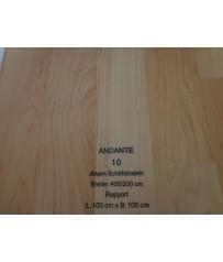 PVC CV Bodenbelag (13,50 €/m²) Joka Andante Ahorn Schiffsboden Design 10 Holz Dekor 400 cm Boden