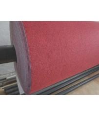 Nadelfilz (7,50€/m²) Teppich Auslegware Teppichboden rot in 400 cm