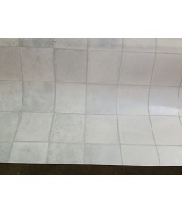PVC CV Bodenbelag (7,99 €/m²) Fliese Premium silber grau 200 cm Boden