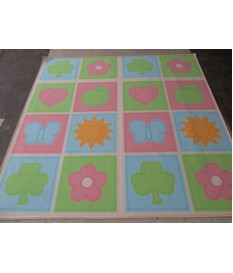 Kinder Teppich Spiel Teppich Multi Quadro 200 cm x 200 cm