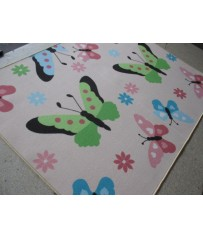 Kinder Teppich Spiel Teppich Schmetterling 150 cm x 200 cm