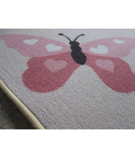 kinder teppich spiel teppich schmetterling 150 x 200 cm. Black Bedroom Furniture Sets. Home Design Ideas