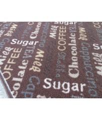 Küchen Läufer Teppich Kaffee Cappuccino braun verschiedene Abmessungen
