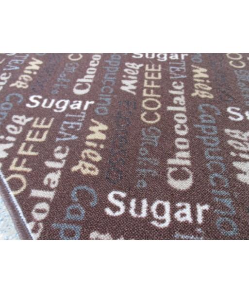 Küchen Läufer Teppich Kaffee Cappucciono braun