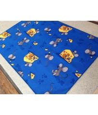 Kinder Spiel Teppich Maus Mäuse blau auch in Rund