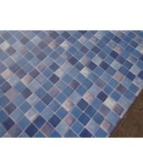 PVC CV Bodenbelag (6,99 €/m²) Mosaik Fliese blau 200 cm Boden