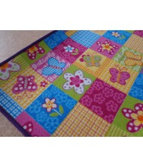 Kinder Spiel Teppich Patchwork Edition pink gelb Bunt auch in Rund