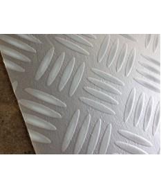 PVC CV Bodenbelag (7,50 €/m²) Riffelblech silber grau 400 cm Boden