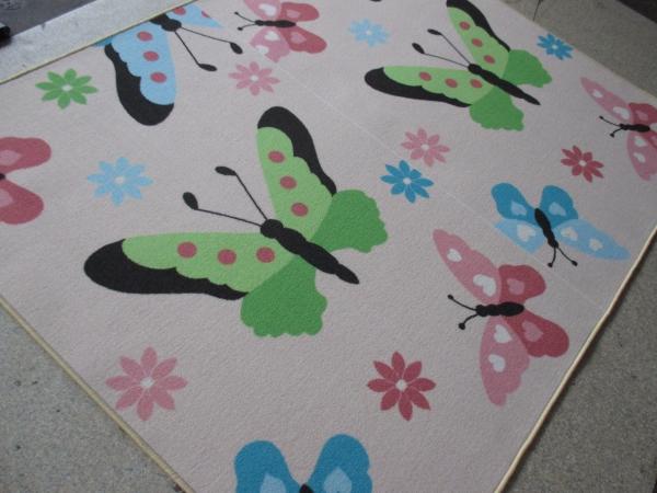 Teppich Schmetterling Rosa ~ Kinderteppiche